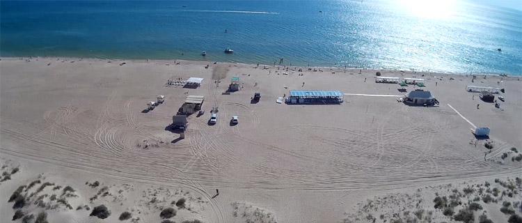 Пляж пансионата НИКО