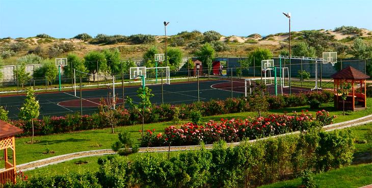 Спортивная площадка в пансионате НИКО
